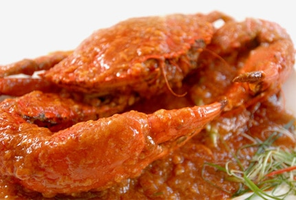 "Chili crab with ""man tou"" from Long Beach Seafood Restaurant"