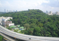 Aerial view of Mount Faber