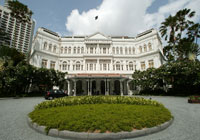 The legendary Raffles Hotel