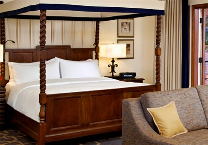 A guest room at Fairmont Sonoma Mission Inn & Spa in California