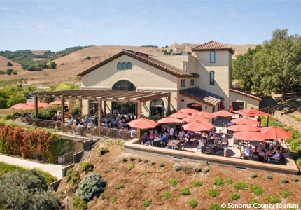 The Gloria Ferrer winery in Sonoma County, California