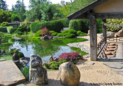 The Meditation Garden at Osmosis Day Spa Sanctuary in Sonoma County, California