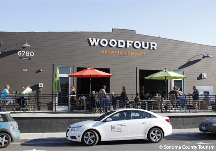 Enjoy a beer at Woodfour Brewing Company in Sonoma County, California