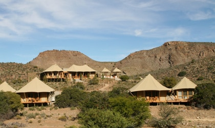 The Dwyka Tented Lodge at the Sanbona Wildlife Preserve