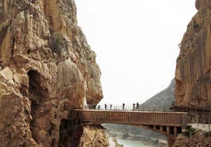 Caminito del Rey in El Chorro-Alora in southern Spain