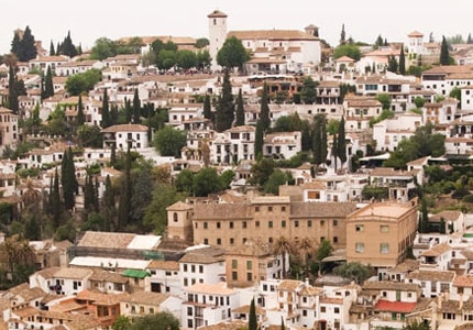 A view of Granada's cityscape from the Alhambra