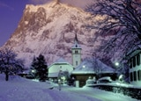 Grindelwald, a traditional Swiss village below the soaring Eiger Mountain