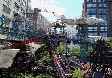 The City Museum in St. Louis, Missouri, was formerly a shoe factory