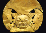 An artifact from The Gold of the Incas exhibit in Stockholm, Sweden