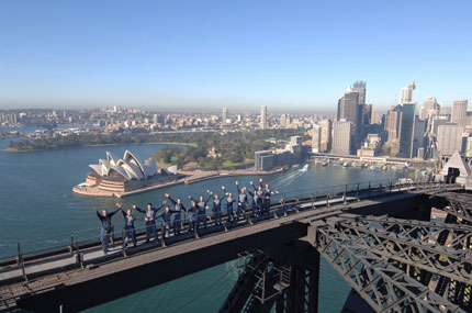 Sydney Harbour Bridge with 'Bridgeclimb'
