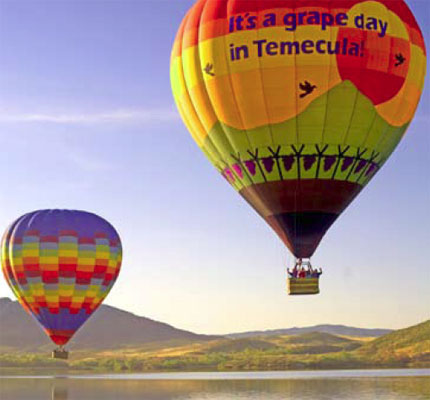 A popular happening: the Temecula Valley Balloon & Wine Festival