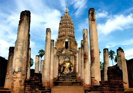 Si Satchanalai historical park in Thailand