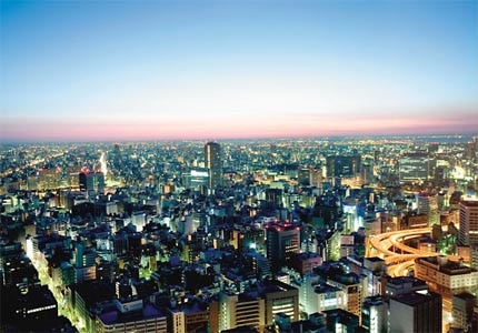 A view of Tokyo, including the Mandarin Oriental, Tokyo in Japan