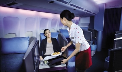 One of GAYOT's Top Business Class Airlines, Cathay Pacific offers enhanced privacy and excellent service