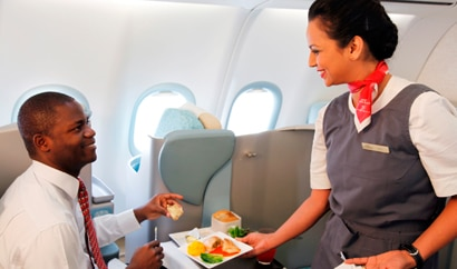 Service with a smile and individual TVs make for an enjoyable flying experience with Etihad Airways