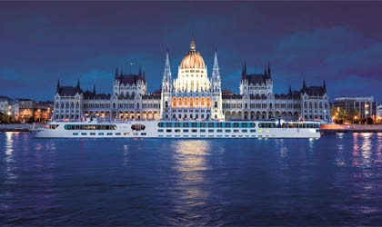 The River Countess, Budapest, from Uniworld Boutique River Cruise Collection, one of our Top 10 Cruise Lines