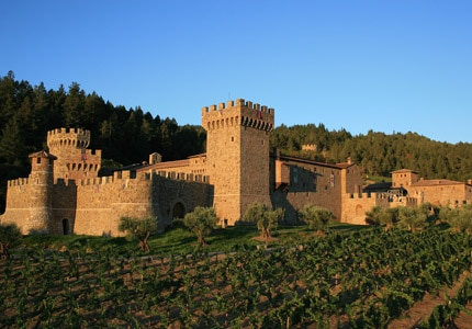 The architecture of Castello di Amorosa in Napa, California was inspired by medieval castles