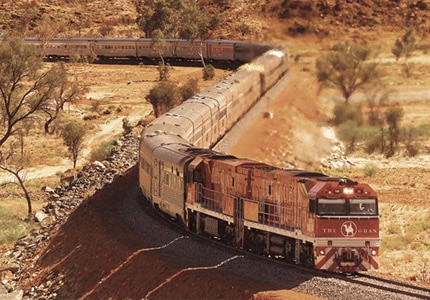 The Ghan is one of GAYOT's Top 5 Luxury Trains