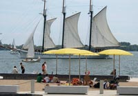 Locals often go to the Harbourfront Centre in Toronto to ice skate or see an outdoor play