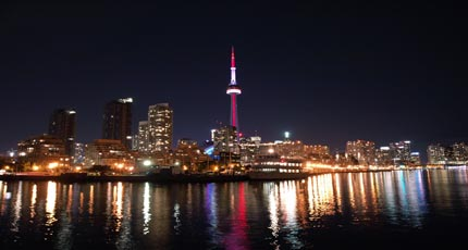 The city of Toronto truly comes to life at night