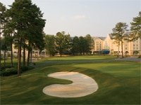 The golf course at Washington Duke Inn & Golf Club on the Duke University campus
