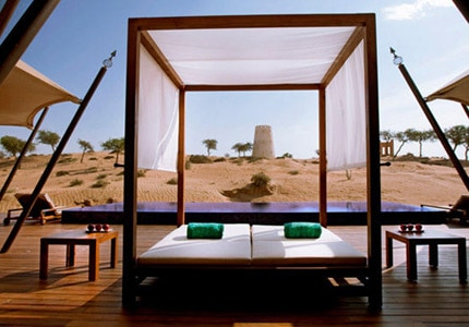 Banyan Tree Al Wadi, one of our Top 10 Romantic Hotels, features an in-house spa with hydrotherapy treatments and a milk and honey bath