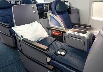 The United BusinessFirst class lie-flat seat