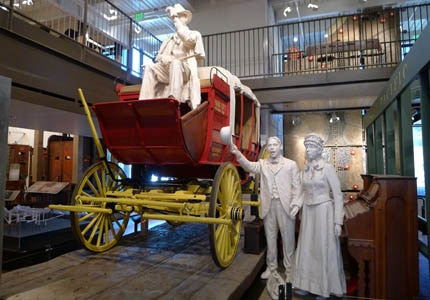 A recreation of the Kimball Stagecoach car at the Park City Museum