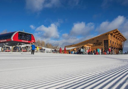 The recently opened Quicksilver Gondola makes Park City the largest ski resort in America