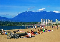 Kits Beach is one of the most popular beaches in Vancouver
