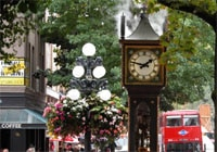 The Gastown Steam Clock emits real steam and whistles every 15 minutes
