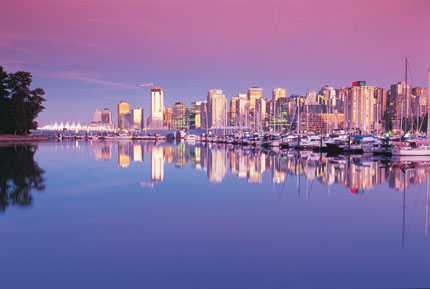 Vancouver reflected in the water
