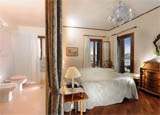 A guest room at La Calcina in Venice, Italy
