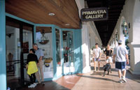Ojai's downtown arcade offers great shopping and one-of-a-kind art galleries