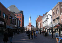 Church Street in Burlington, Vermont, offers a cornucopia of local color on a four-block stretch