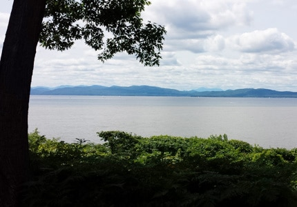 Take in the scenic view at Lake Champlain in Burlington, Vermont