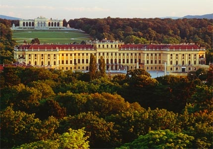 Schonbrunn Palace, a grand, gated palace boasting almost 1,500 ornate rooms