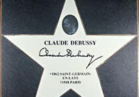 Debussy's star on the Music Mile Vienna