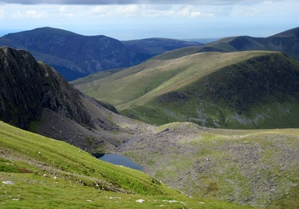 Mount Snowdon in Northern Wales has an elevation of 3,560 feet