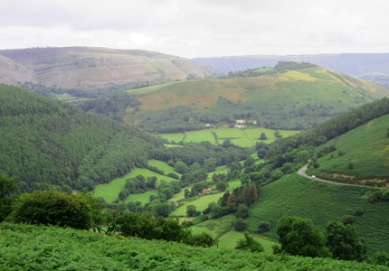 The verdant Northern Wales landscape