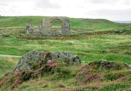 The ruins of the church built in homage to Dwynwen, the patron saint of Welsh lovers