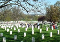 Arlington National Cemetery in Arlington, Virginia