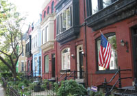 Take a stroll to admire the Rowhouses on Capitol Hill in Washington, DC