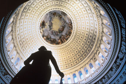 Inside the Dome of the Capitol in Washington, DC