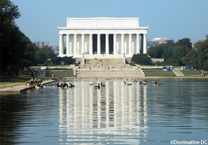 Lincoln Memorial and the Reflecting Pool in Washington, D.C.