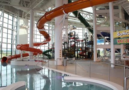 The waterpark at Evergreen Aviation and Space Museum in McMinnville, Oregon