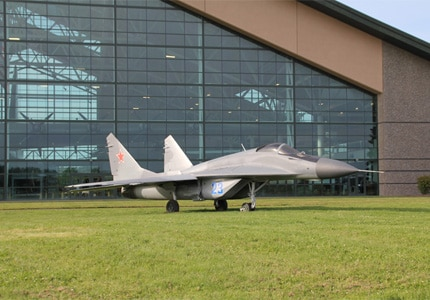 MiG-29 Fulcrum at the Evergreen Aviation & Space Museum in McMinnville, Oregon