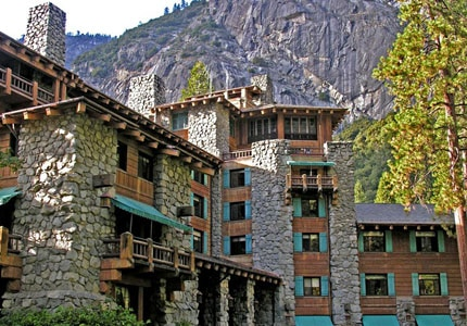 The Ahwahneee Hotel is a big Yosemite landmark