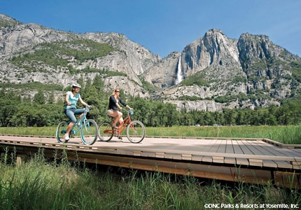 Enjoy activities, such as bike riding, at Yosemite National Park