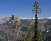 Yosemite mountain view